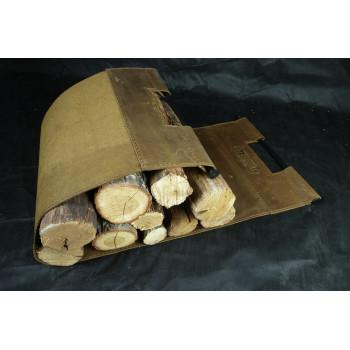 Сумка для дров з натуральної шкіри