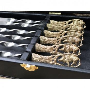 Набір шампурів Дикий кабан в кейсі
