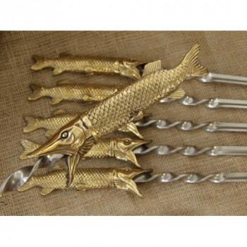 Шампура подарункові Царський улов в сагайдаку з натуральної шкіри