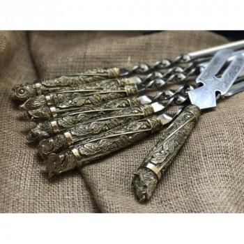 Шампура подарункові Дикі звірі з вилкою для зняття мяса